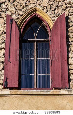 Gothic Red Castle Window -lednice, Czech Republic