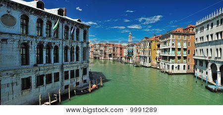 View From Bridge Ponte Di Rialto In Venice