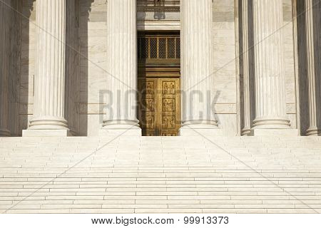 Columns, Steps And Doors Of The Supreme Court Of The United States