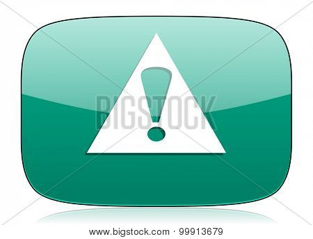 exclamation sign green icon warning sign alert symbol