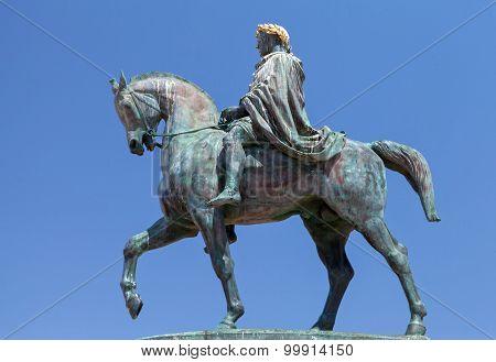 Statue Of Napoleon Bonaparte On A Horse