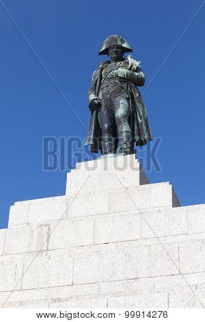 Statue Of Napoleon. Ajaccio, Island Of Corsica