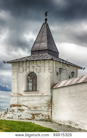 Tobolsk Kremlin Sentry Towers Menacing Sky Russia