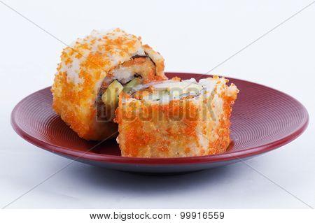 California Roll Maki Sushi With Masago