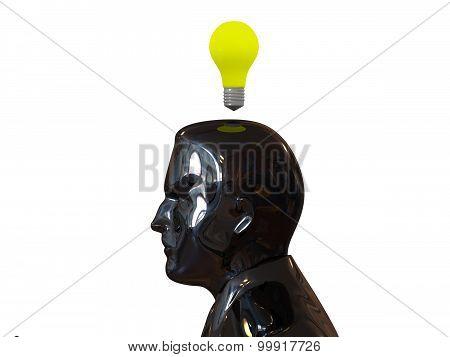 Head light bulb. Idea concept.