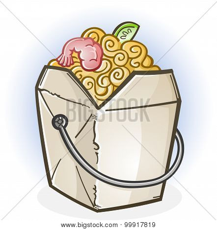 Chinese Takeout Blank.epsChinese Food Take Out Box Cartoon