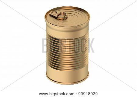 Metallic Tin Can