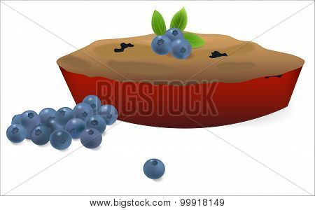 Blueberry pie with blueberries