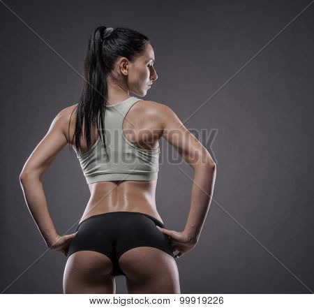 Athletic Young Woman Doing A Fitness Workout