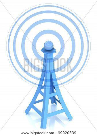 3d communication antenna tower
