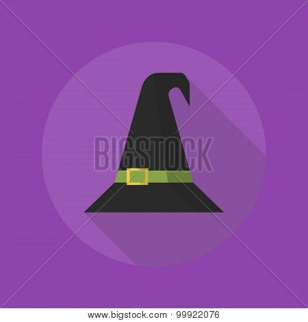 Halloween Flat Icon. Witch Hat