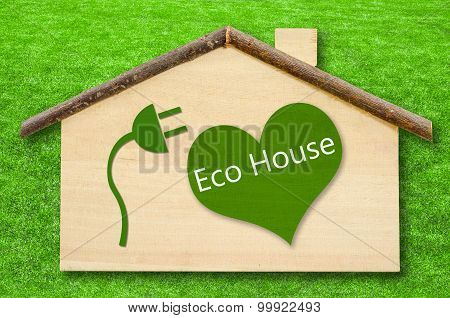 Eco House On Little Home Wooden Model