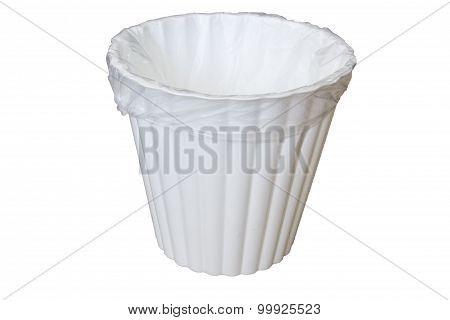 Trash Bin Holding An Empty Bag