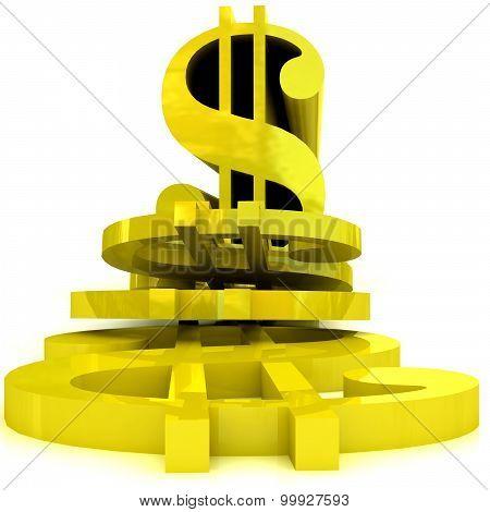 Sliced dollar symbol