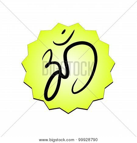 Sign vector Hindu Om Icon in Tamil