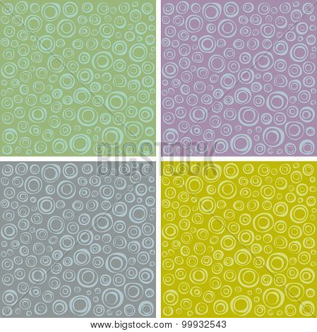 Irregular Concentric Circles Pattern Set In Different Colors