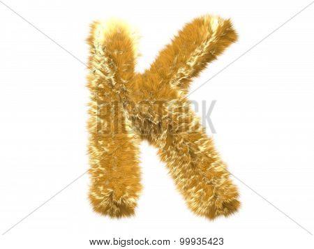 Letter K from fur fox alphabet