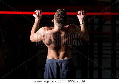 Exercising On Chin-up Bar