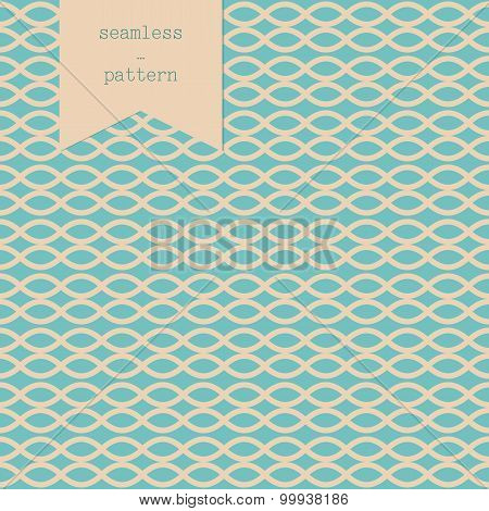 Geometric Pattern Of The Braid Turquoise