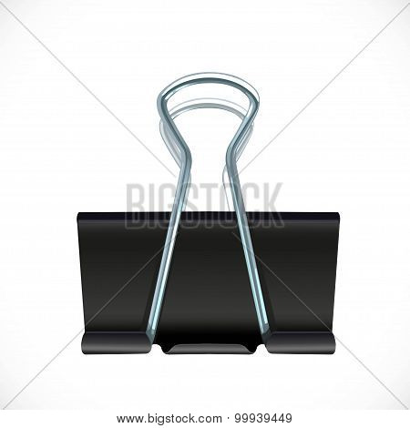 Vector Binder Clip Isolated On White Background