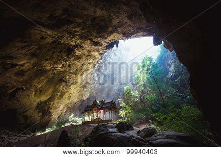 Phraya Nakhon Cave is the most popular pavilion at Prachuap, Thailand.