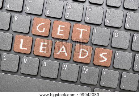 Brown get leads key on keyboard