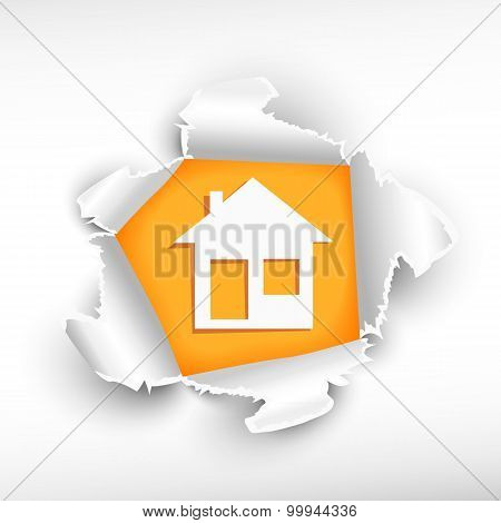 House And Breakthrough Paper Hole