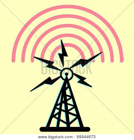 Radio Tower. Vector illustrator EPS 10