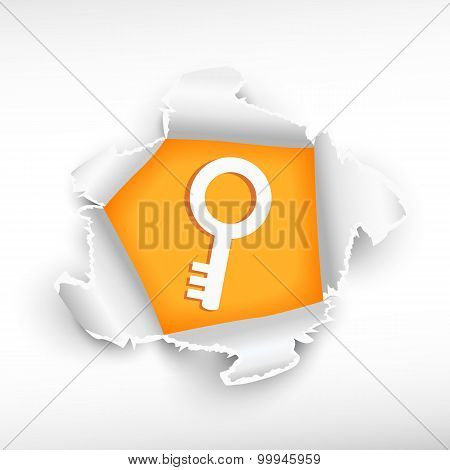 Key And Breakthrough Paper Hole