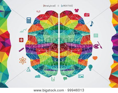 vector illustration of a brain icon