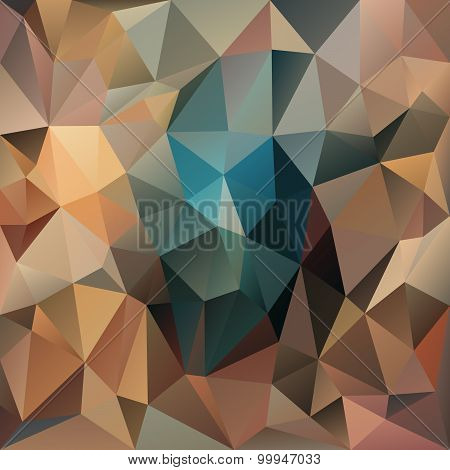 Vector Polygonal Background Pattern - Triangular Design In Brown Colors