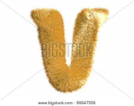 Letter V from fur fox alphabet