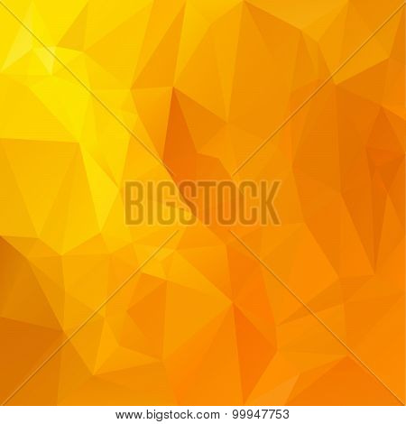 Vector Polygonal Background Pattern - Triangular Design In Honey Colors