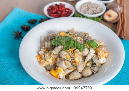 Braised Oyster With Eggs Menu