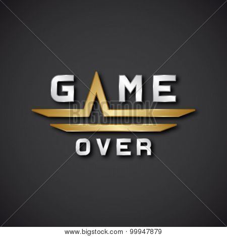 EPS10 vector game over text icon