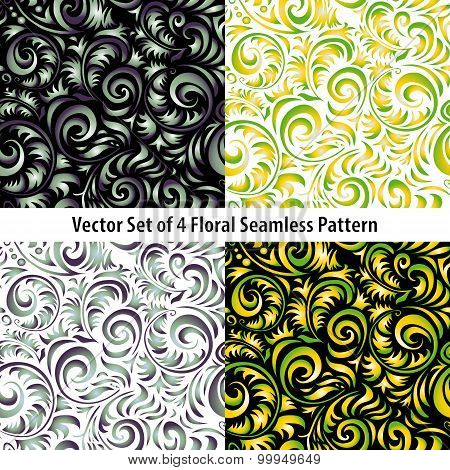 Traditional Russian Vector Pattern Frames Set In Khokhloma Style. Can Be Used For Banner, Card, Post