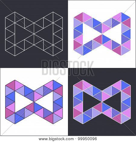 Symbol of Infinity in Polygonal Style