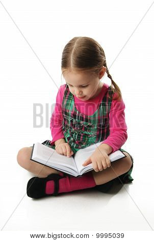 Preschool Girl Reading