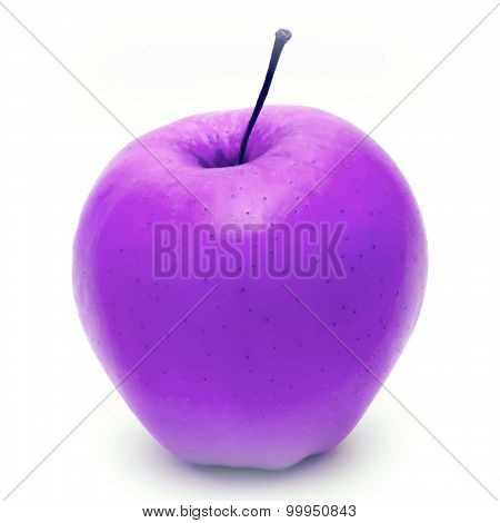 violet apple fruit isolated