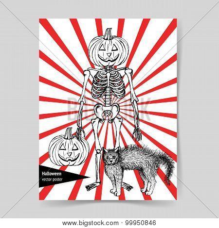 Sketch Halloween Poster