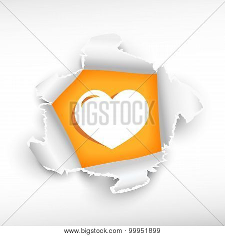 Heart And Breakthrough Paper Hole