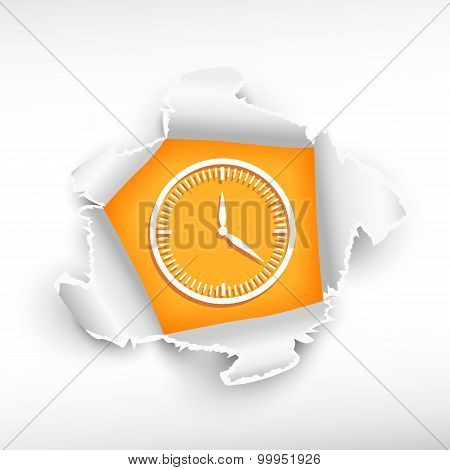 Clock And Breakthrough Paper Hole
