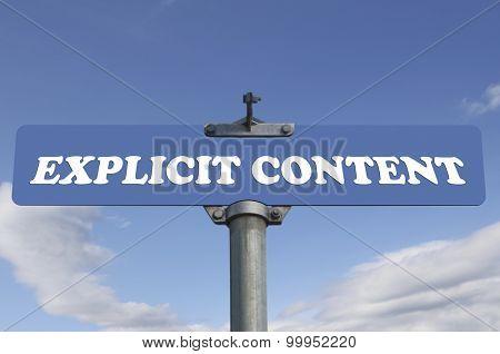 Explicit content road sign