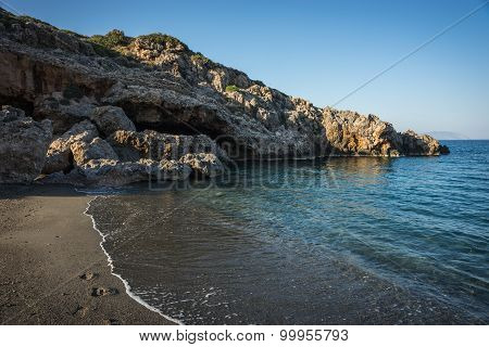 Scenic Landscape With Seaview, Kythira, Greece