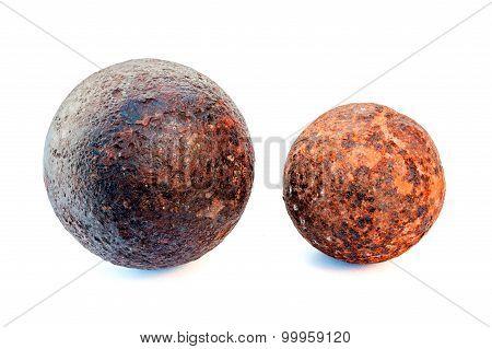 1812 year rust cannonballs