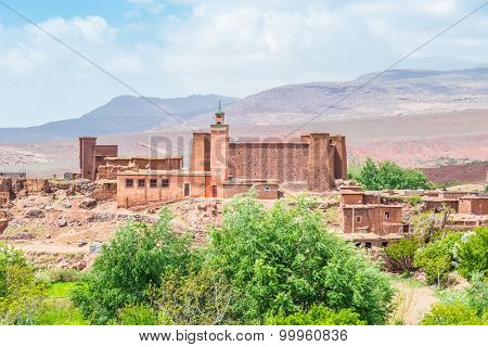 Kasbah in High Atlas mountains, Morocco (between Ourzazate and Tizi-n-Tichka pass)