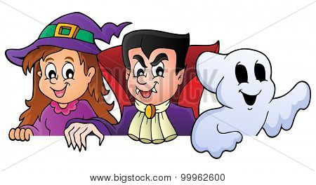 Lurking Halloween characters 1 - eps10 vector illustration.