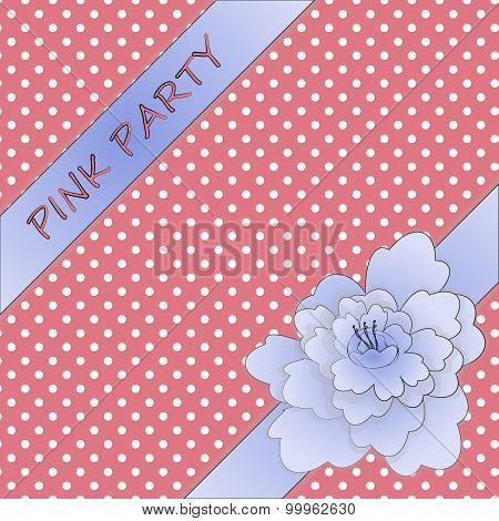 peony ribbon with girly background