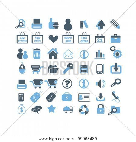 e-commerce, shopping icons