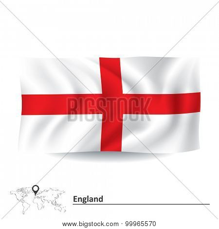 Flag of England - vector illustration
